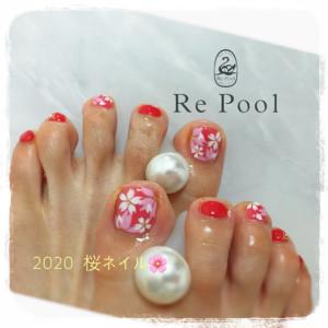 桜フットネイル
