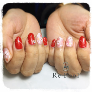 真紅桜ネイル